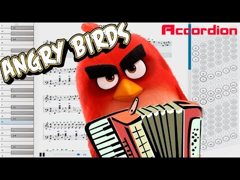 Accordion tutorial. Angry Birds soundtrack game. Notes. thumbnail