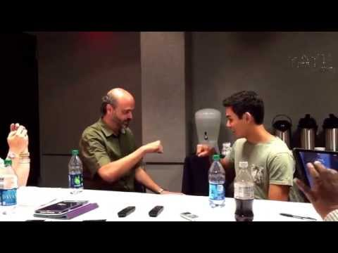Scott Adsit Baymax and Ryan Potter Hiro Recreate BIG HERO 6 Fist Bump!