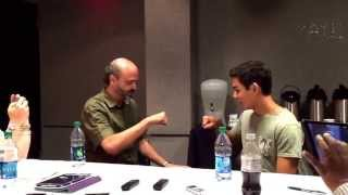 Scott Adsit (Baymax) and Ryan Potter (Hiro) Recreate BIG HERO 6 Fist Bump!