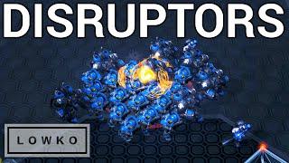 StarCraft 2: MASSIVE DISRUPTOR HIT! (Trap vs Bunny)