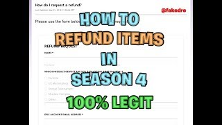 How to actually refund any item on Fortnite 100% LEGIT