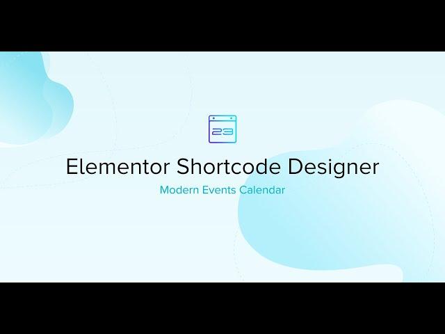 Elementor Shortcode Designer