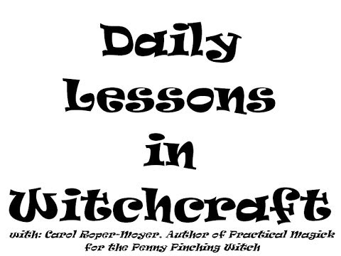 Daily Lessons In Witchcraft Day 26 Symbols Youtube