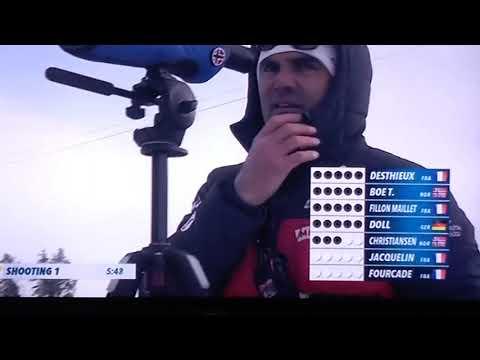 Биатлон естафета мужчин 14.03.2020