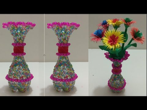 Best Out Of Waste Plastic Bottle Flower Vase Diy Plastic Bottle
