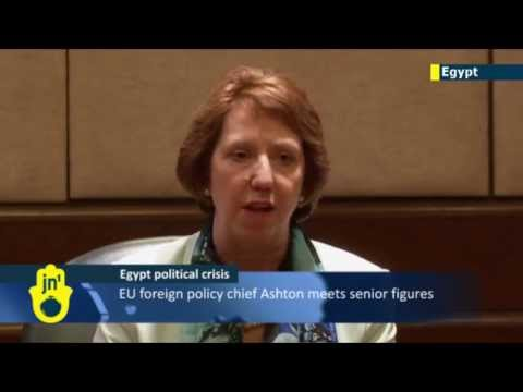 EU foreign policy chief Catherine Ashton meets senior Egyptian figures but not imprisoned Morsi