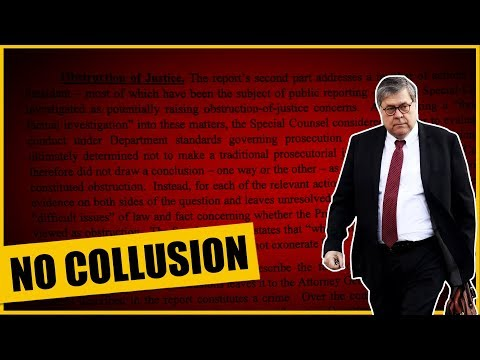 It's OFFICIAL AG Barr Report Out: Mueller Admits There Was No Collusion!