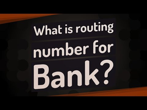 What Is Routing Number For Bank?