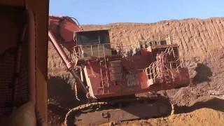 Hitachi 3600 Excavator loading a Komatsu 830E Dump Truck