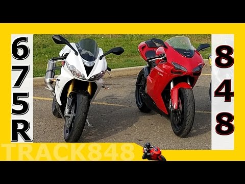 Triumph Daytona R vs Ducati  PART I -- Crazy Fast Country Road!