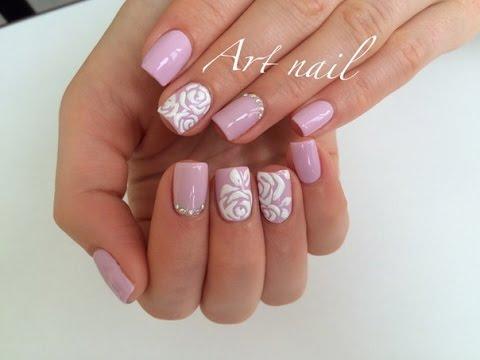 Розочки рисунки на ногтях