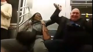 New York City Subway Fight (Over A Seat)!!