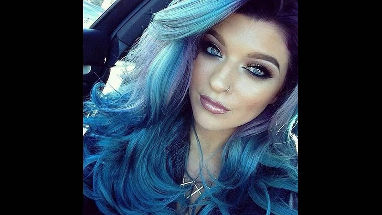 make permanent blue hair