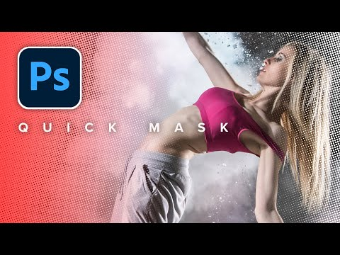 CRAZY GOOD selections in Photoshop with QUICK MASK