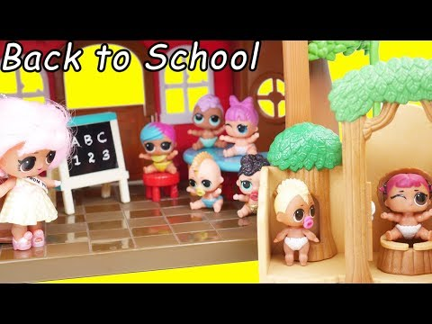 Barbie LOL Family Travel Morning Routine on School Ship with Neonlicious