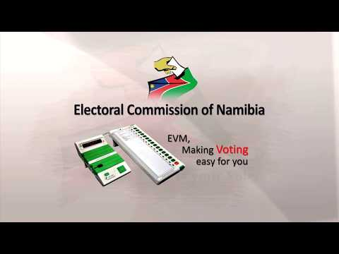 How to use the electronic voting machine (EVM) in Namibia