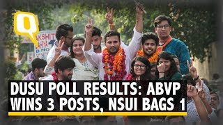 DUSU Polls: ABVP Wins 3 Seats, NSUI Clinches Secy Post Alone   The Quint