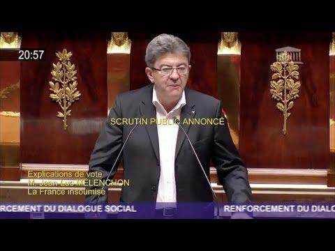 «NOUS NE VOULONS PAS DE VOTRE MONDE» - Mélenchon