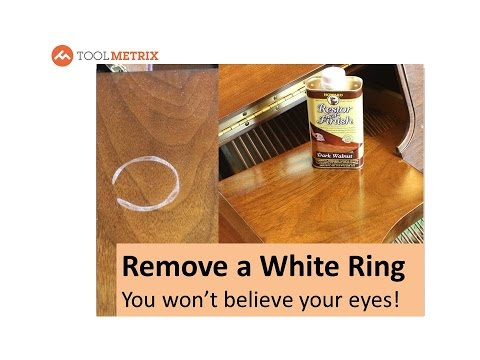 Remove A White Ring Water Or Heat Stain, Remove White Stain Wood Furniture