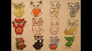 How to doodle a cute Lucky Cat/Maneki Neko/Tutorial