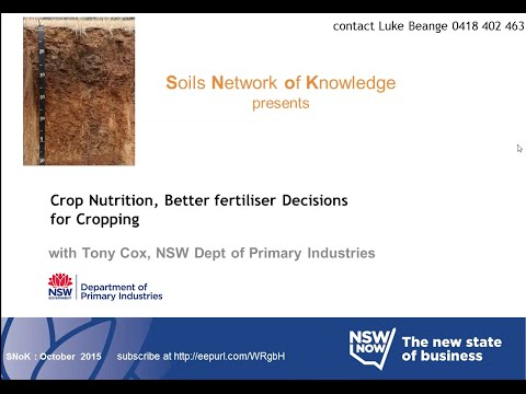 Better fertiliser decisions for cropping webinar by Tony Cox, NSW DPI