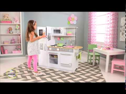 Kidkraft Kitchen White kidkraft uptown white kitchen - youtube