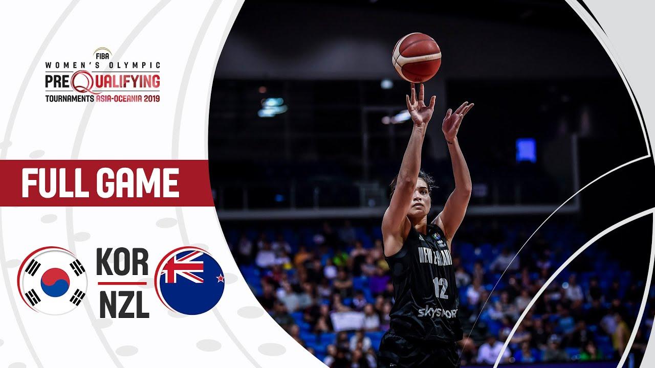 Korea v New Zealand - Full Game - FIBA Women's Olympic Pre