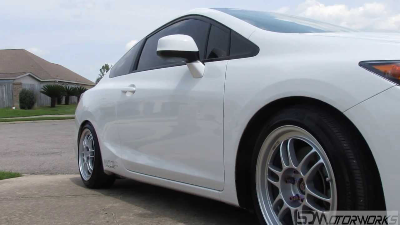 2012 civic si on enkei rpf1 17x8 with a 35mm offset youtube