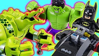 LEGO Batman Movie Batman and Hulk! Defeat the Giant Crocodile and Villain! - DuDuPopTOY