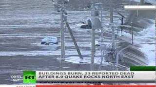 Scary Footage: Tsunami Waves Raging, Buildings Burn After 8.9 Japan Earthquake