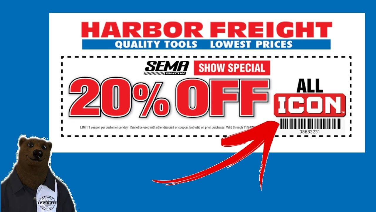 20% Off ALL Icon Tools & Toolboxes (Harbor Freight SEMA Coupon ...
