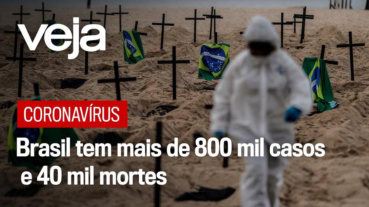 Brasil registra 1.239 mortes por coronavírus em 24 horas, segundo ...