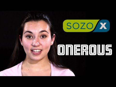 English Pronunciation - ONEROUS - #192