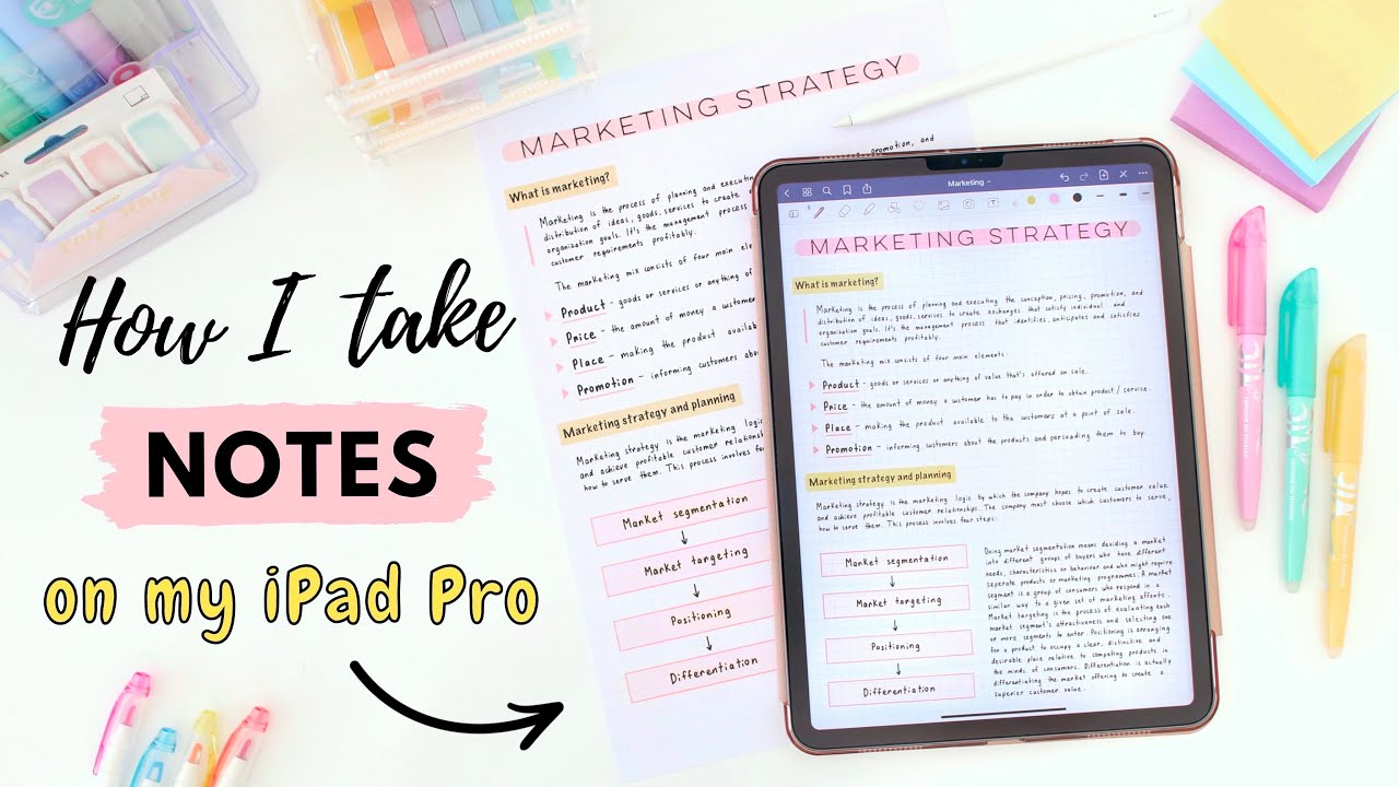 How I take notes on my iPad  💫 Tips for pretty and effective note taking! 📝