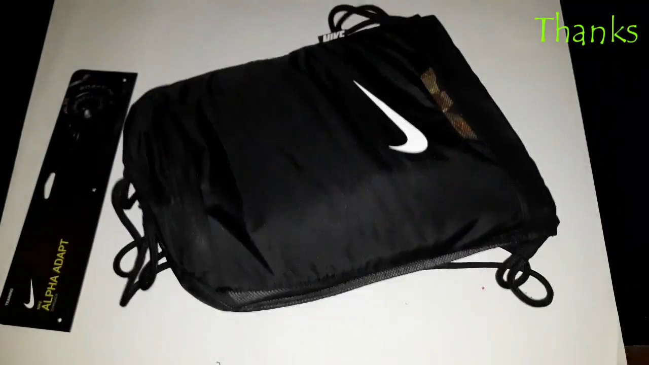 6fffb8990f29 Nike Alpha Gym Sack Backpack - YouTube