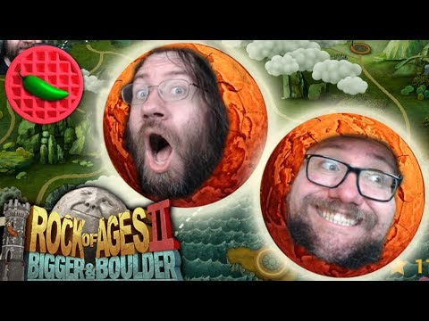 ROLLING BACK INTO ACTION! -- Rock of Ages 2: Bigger & Boulder (Local Co-op Multiplayer STREAM)