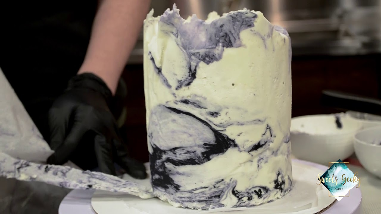 Marbled Buttercream Technique Youtube