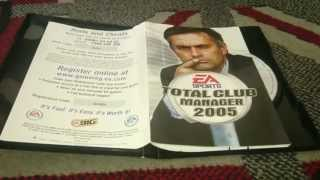 Nostalgamer Unboxes Total Club Manager 2005 On Sony Playstation 2 UK PAL System Version