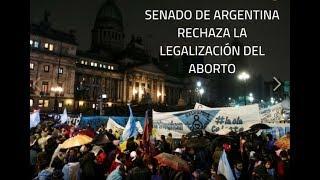 Se rechazó el aborto en el Senado Argentino