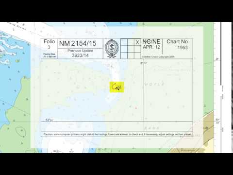 An explanation of terms and symbols used when updating an ADMIRALTY Standard Nautical Chart