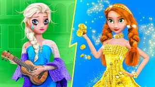 Rich Anna vs Broke Elsa