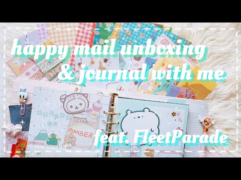 Happy Mail Unboxing With FleetParade/Creative Journal With Me/Kawaii Journaling/6 Ring Binder/A5