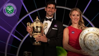 Angelique Kerber and Novak Djokovic interviewed at Champions