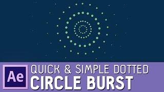 Schnelle & einfache After Effects dotted circle burst (mit elipse und dash-Optionen)