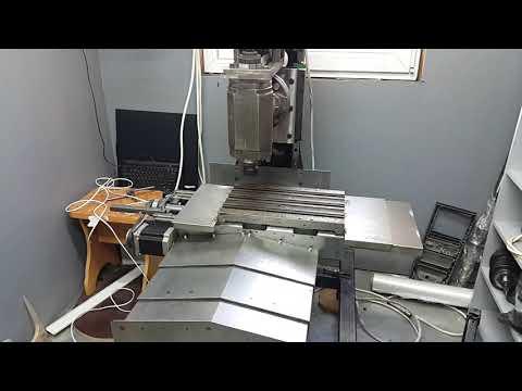 DIY cnc milling machine. Test.