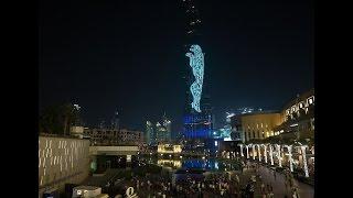 برج خليفة يقدم عرضاً من أجل جاكوار F-pace