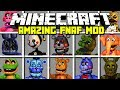 Minecraft AMAZING FIVE NIGHTS AT FREDDY'S MOD! | FREDDY, FOXY, BONNIE AND MORE! | Modded Mini-Game