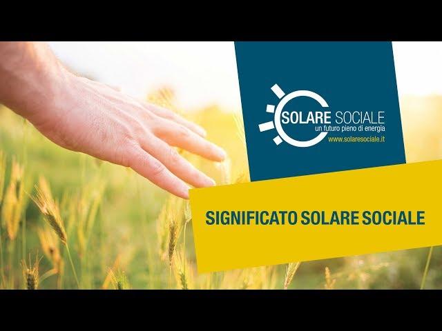 Significato Solare Solare Sociale