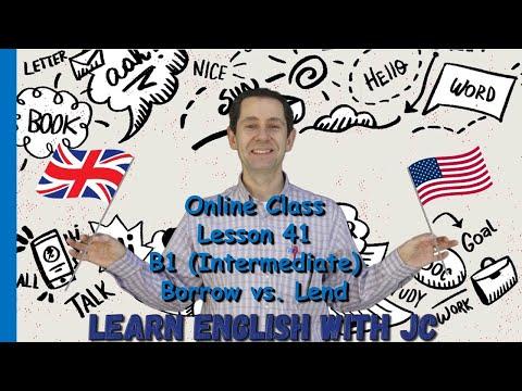 Online #41 - B1 (Intermediate) Borrow vs. Lend
