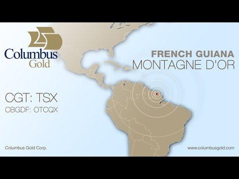 Columbus Gold Montagne d'Or gold deposit